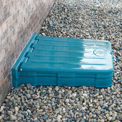 A waterproof crawl space door and access well system