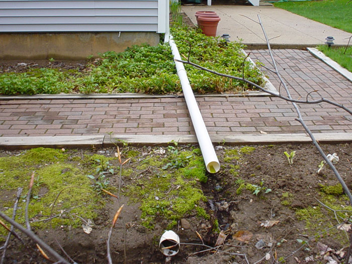 The rainchute downspout extension gutter system for Gutter drainage systems design