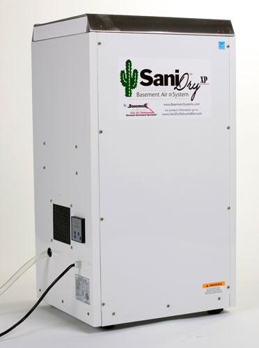 the sanidry xp basement dehumidifier air system