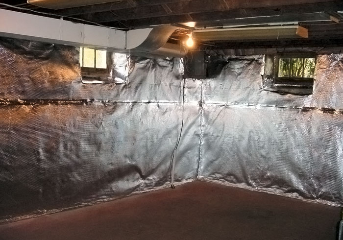 Thermaldry Wall Radiant Heat Amp Vapor Barrier System