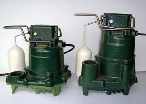 Zoeller cast-iron sump pumps