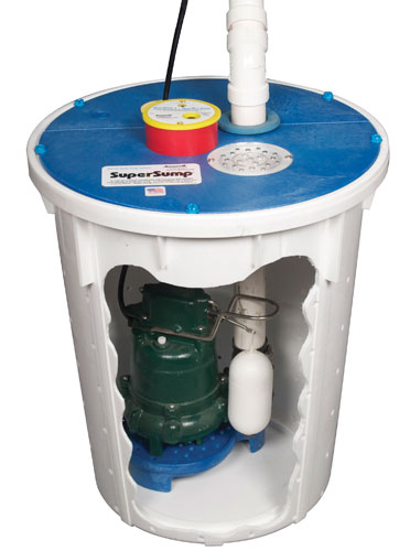basement sump pump system and pump liner with airtight lid for your