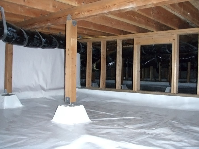 Gentil A Very Large Encapsulated Crawl Space Area That We Sealed With CleanSpace.