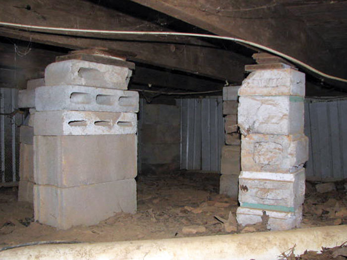 Sagging Floors Over A Crawl Space