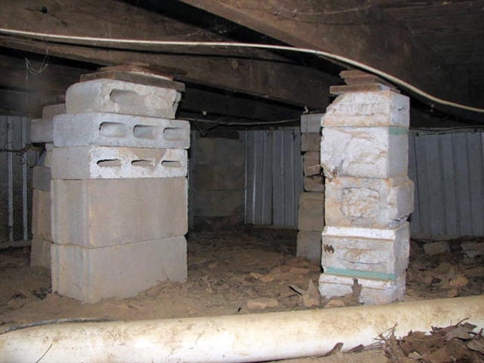 Crawl space structural repair Concrete crawl space floor