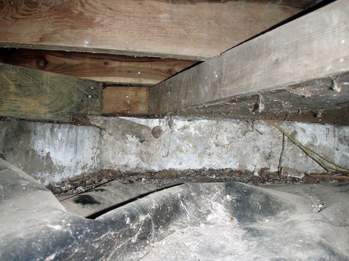 Crawl space repair what not to do for Crawl space floor