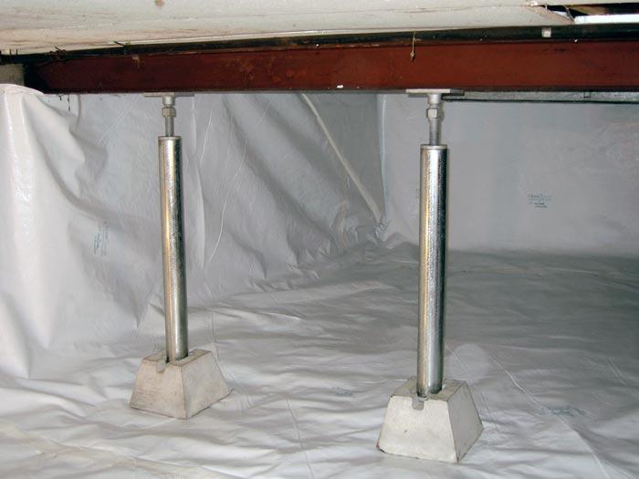 Floor Jack Repair >> Crawl Space Structural Repair