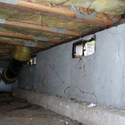 several open vents in a crawl space
