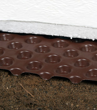 Crawl space drain matting and insulation