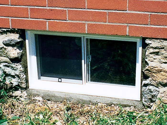 basement window replacement foundation outside view of one our vinyl replacement basement windows our everlast vinyl basement replacement windows