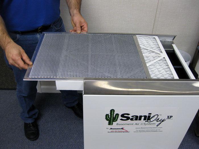 basement dehumidifier system 39 s air filter