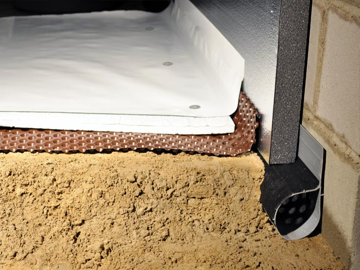 complete crawl space insulation system for a dry crawl space