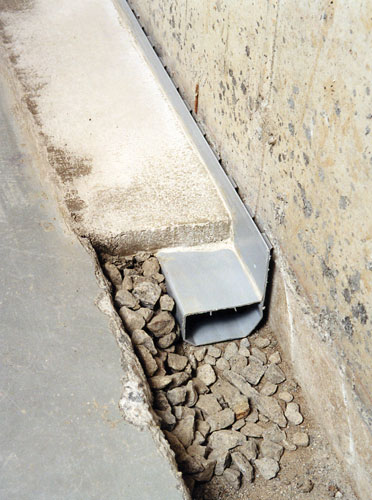 The Waterguard Warranted Basement Drain System