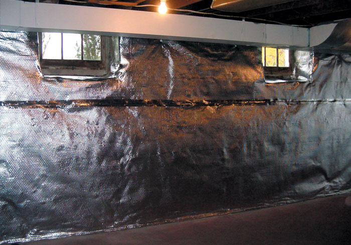 energy efficient basement windows and and a radiant heat barrier