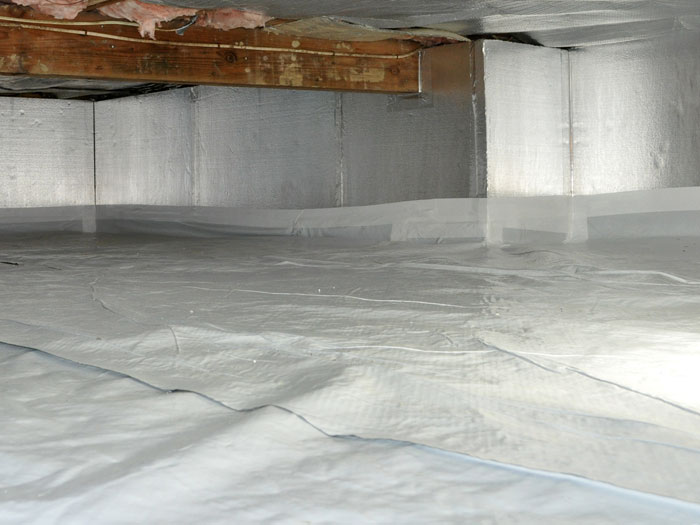 The Silverglo Crawl Space Wall Insulation System