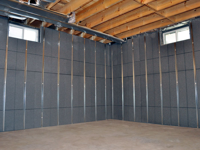 Insulating Basement Walls For Increased Energy Efficiency Basement Wall Insulation Installation
