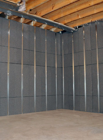 Our basement wall insulation system