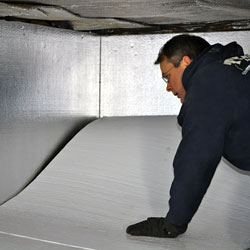 Insulation on crawl space walls and floors.