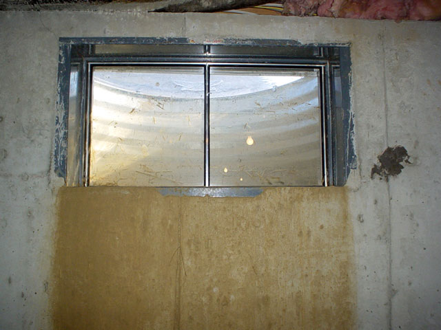 The wellduct leaking basement window system for Basement windows
