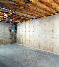 Wall drainage solutions for different foundation types for Poured concrete basement walls