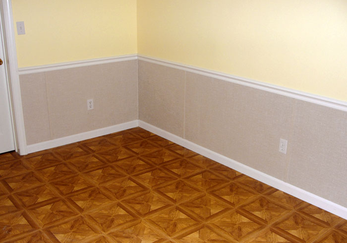 Chair Rail Basement Part - 50: ... Drywall Repaired With Our Basement Wall System