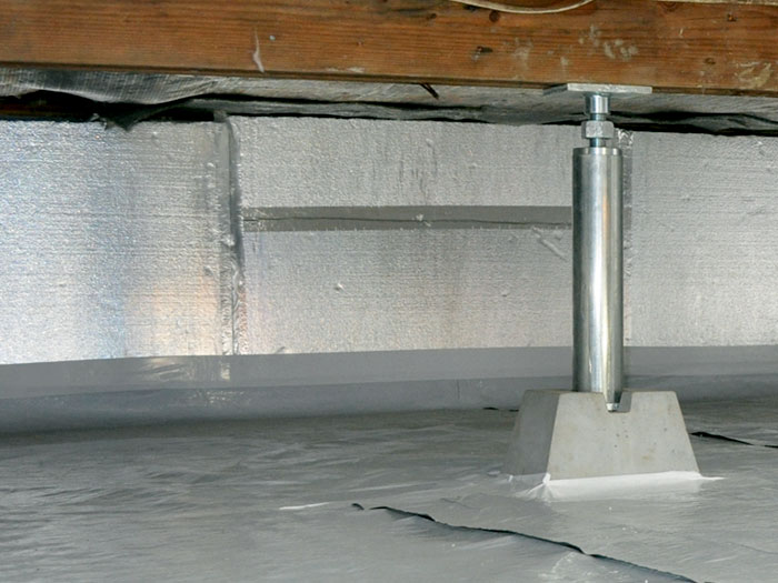 The silverglo crawl space wall insulation system for Crawl space insulation cost estimator