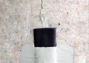 wall crack repair system installed on a concrete basement wall