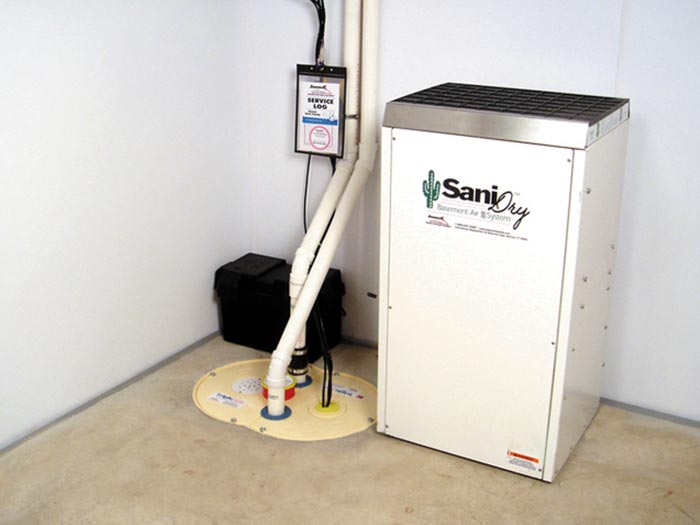 A Newly Installed Sump Pump System
