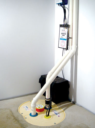 Triplesafe Sump Pump System With Three Pumps Battery