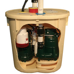 A TripleSafe Basement Sump Pump System
