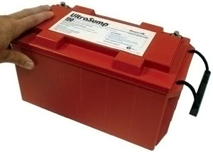 One of the batteries that powers our UltraSump® Battery Backup Systems.