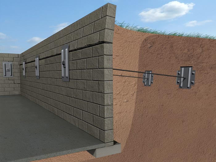 Foundation wall crack repair for How to build a concrete block wall foundation