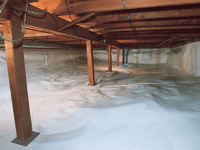 How and why we seal crawl spaces Concrete crawl space floor