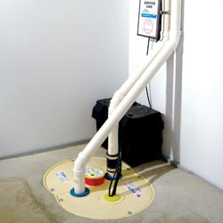 a complete sump pump system installation