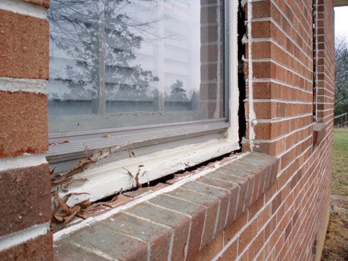 Foundation settlement structural damage for Foundation for garage