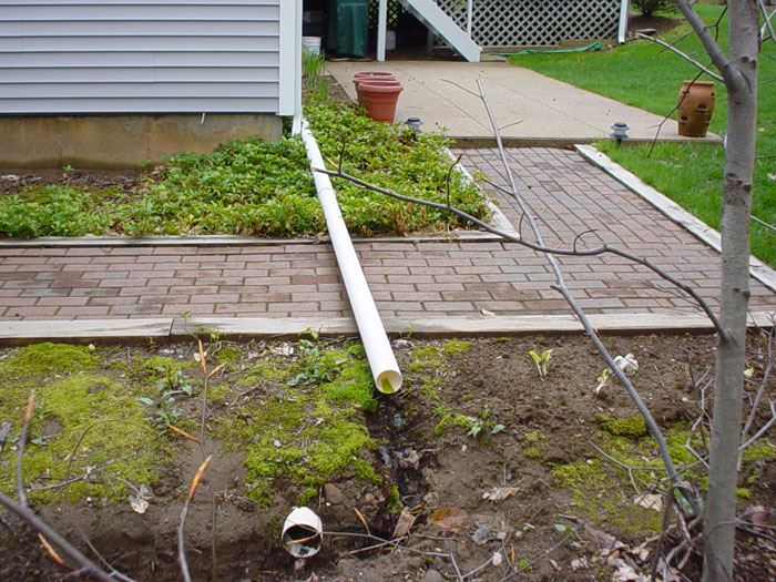 Basement problems poor grading improper yard drainage for Outside drainage system
